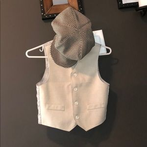Other - Boys Vest + Newsboy Hat Set